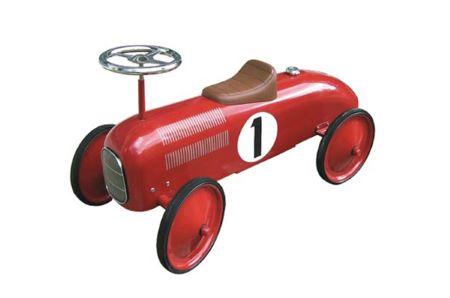 Roter Oldtimer Rennwagen
