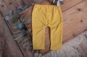 Pantalon en maille moutarde