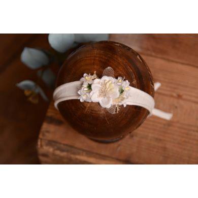 Blütenkopfputz in Weiß - Modell 1
