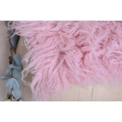 Flokati grande rosa pastel
