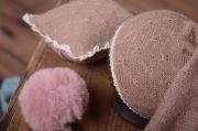 Dark pink Amsterdam hat and minipillow