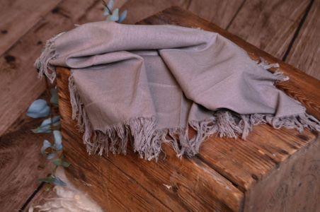 Grey fringed little fabric