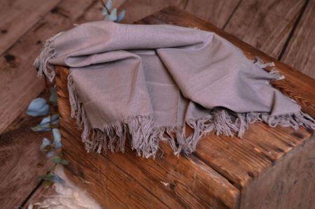 Tissu avec franges gris