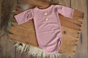 Body maniche lunghe in maglia rosa antico