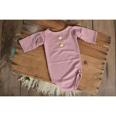 Body de punto con mangas rosa palo