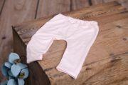Pantalon en maille rose bébé