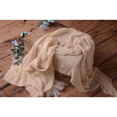 Wrap de algodón beige