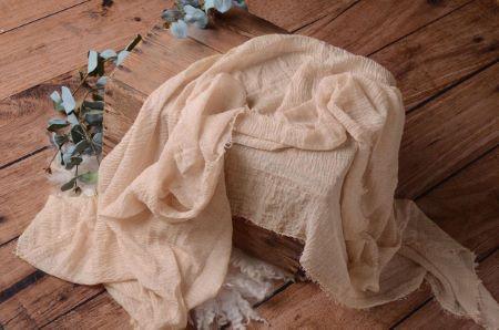 Wrap di cotone beige