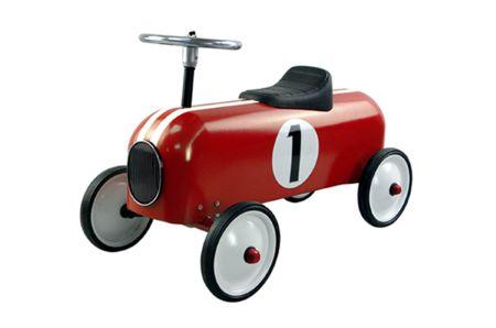 Roter und weißer Rennwagen