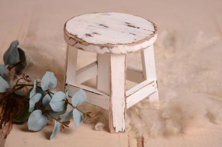 Rundes Tischchen in Weiß