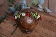 Weihnachtlicher Blütenkopfputz - Modell 9