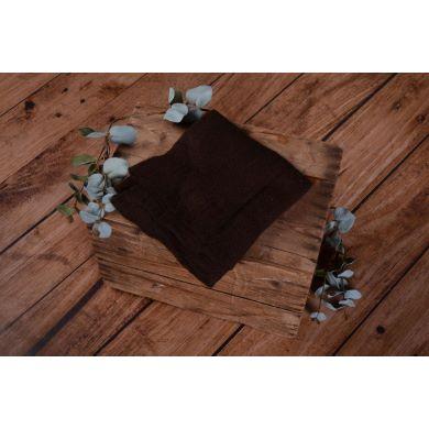 Dark brown woollen wrap