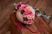Cuffietta floreale sitter rosa