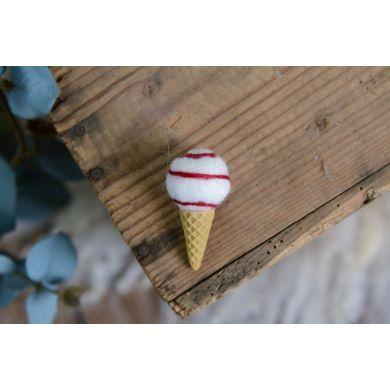 Cono gelato bianco e rosso