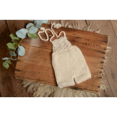 White short mohair dungaree