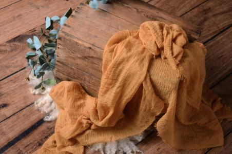 Wrap aus Baumwolle in Senffarbe