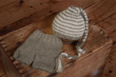 Grey striped mohair set