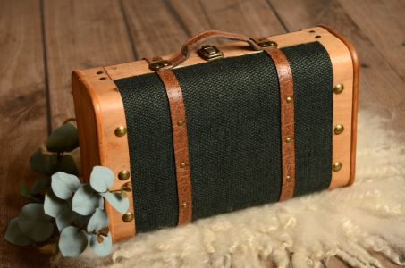 Dark green small suitcase