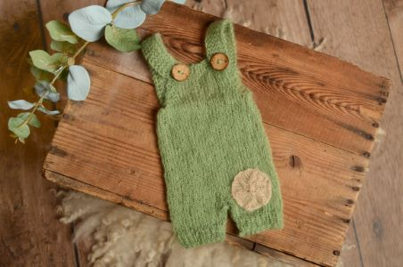 Green partch dungaree