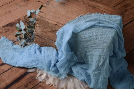 Wrap en coton bleu ciel