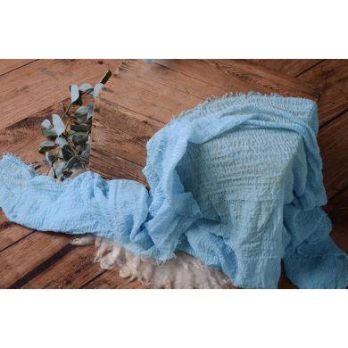 Wrap aus Baumwolle in Himmelblau