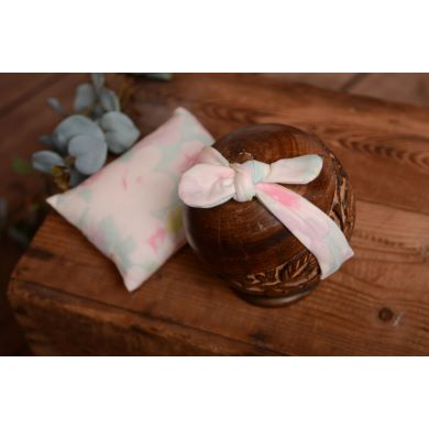 Sky blue and pink mini pillow and bandanna