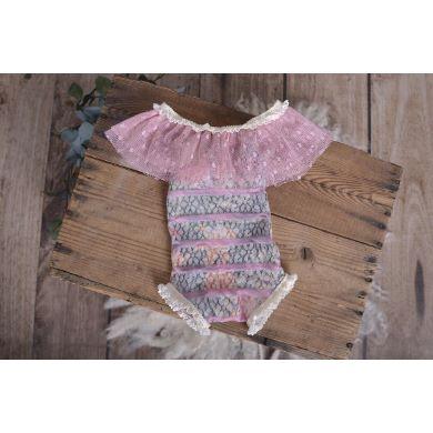 Pink raffled bodysuit