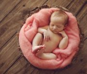 Couverture en laine rose