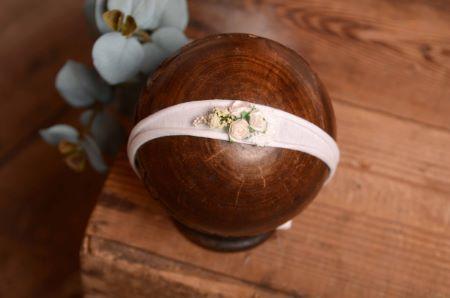 Tocado floral blanco - Modelo 2