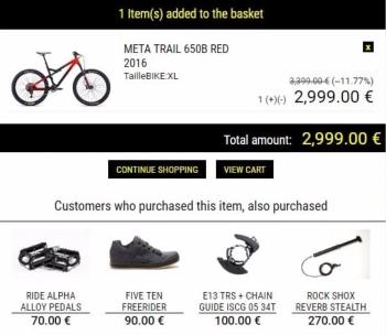 Upselling and Cross-Selling - Shopping basket