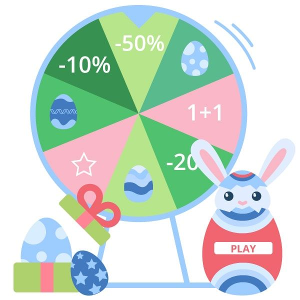 """""""Easter"""" Template for the app - Wheel of fortune"""
