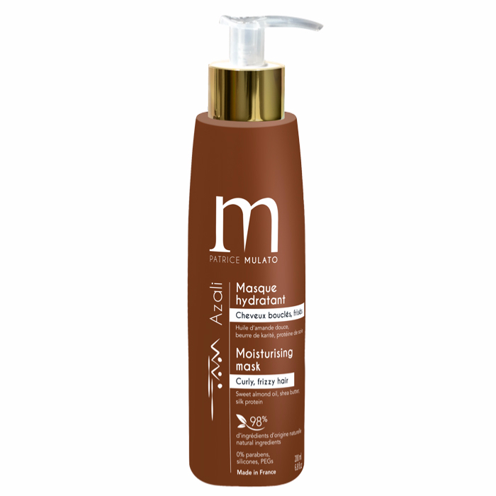 Masque Hydratant Cheveux Bouclés Azali Mulato 200 ML