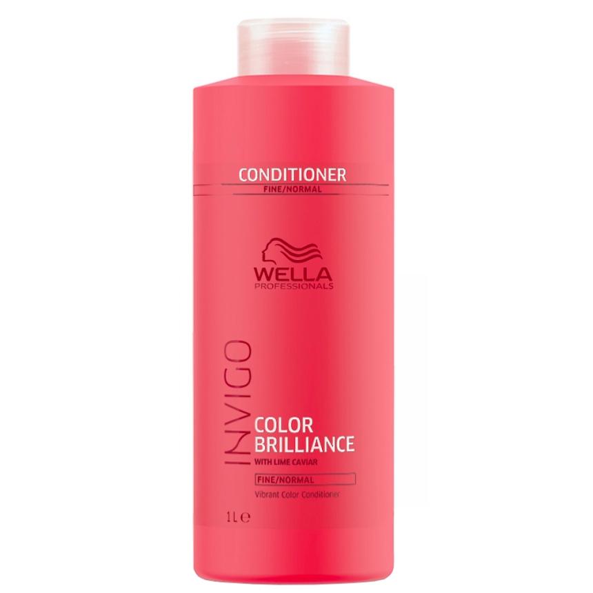 Conditioner Color Brilliance Invigo Cheveux Fins à normaux Wella 1L