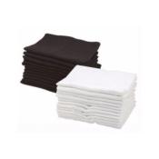 Serviette Noire 100% coton  x12