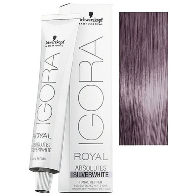 Tube Coloration Igora Royal Absolutes Silverwhite Schwarzkopf 60 ML