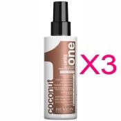 Spray Revlon Uniq One Coconut 150 ML (Pack 3)