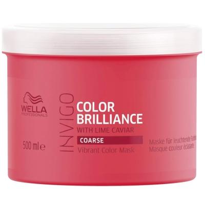 Masque Color Brilliance Invigo Cheveux Épais Wella 500 ML
