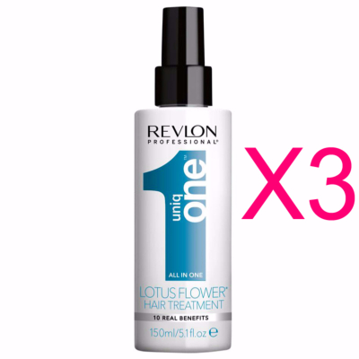 Spray Revlon Uniq One Lotus 150 ML (Pack 3)