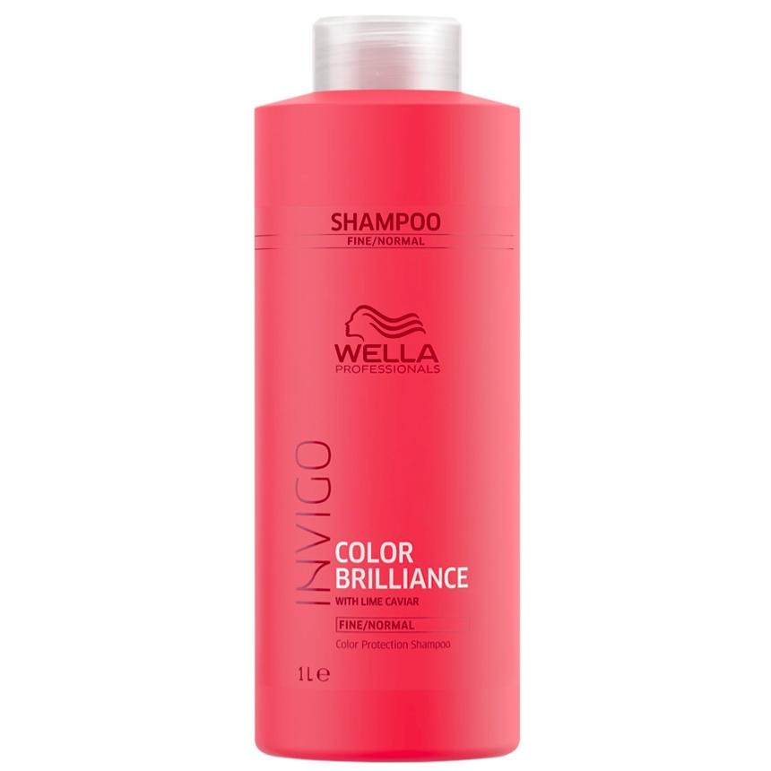 Shampoing Color Brilliance Invigo Cheveux Fins à normaux Wella 1L