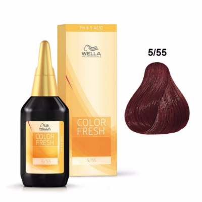 Color Fresh Wella 5/55 Chatain Clair Acajou Intense 75 ML
