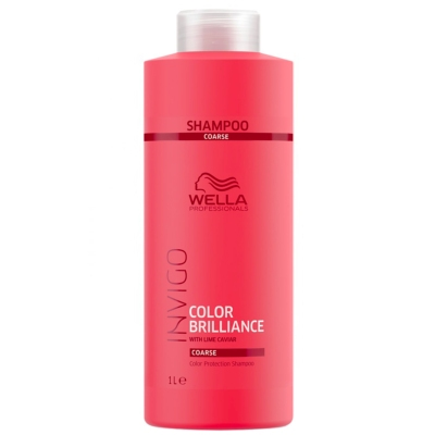 Shampoing Color Brilliance Invigo Cheveux Épais Wella 1L