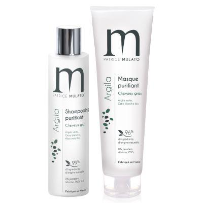Duo Shampoing & Masque Purifiant à l'Argile Mulato