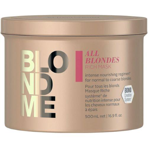 Masque Riche All Blondes Blond Me Schwarzkopf 500 ML