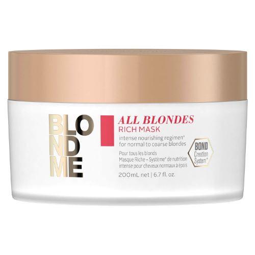 Masque Riche All Blondes Blond Me Schwarzkopf 200 ML