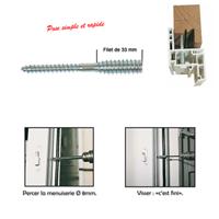 Vis sans-tête TOP-ROC pour menuiserie PVC - I.N.G. Fixations