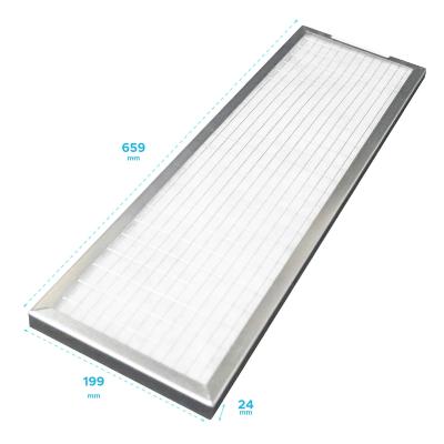 Filtre cadre galva avec grille et croisillon 659 x 199 x 24 mm