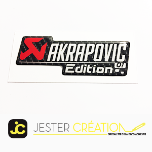 Logo Akrapovic Gel Edition 01