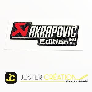 Logo Akrapovic Gel Edition 01