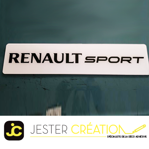 Renault sport blanc
