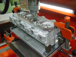 Guide work on a cylinder head